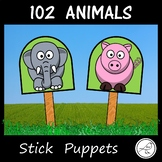 Animal Stick Puppets - 102 animals