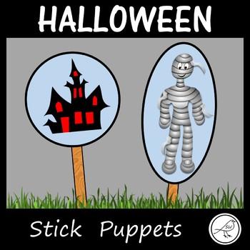 Stick Puppets  -  HALLOWEEN  -  74 puppets!