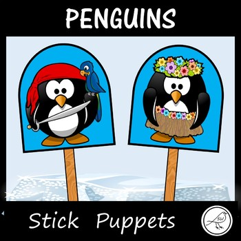 Penguins - Stick Puppets