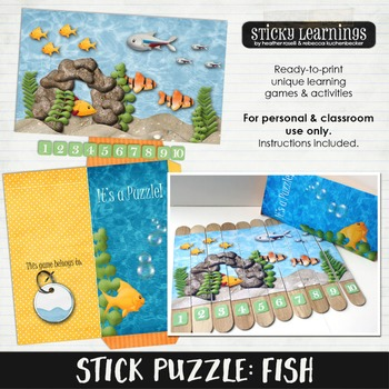 Stick Puzzle: Fish by Sticky Learnings