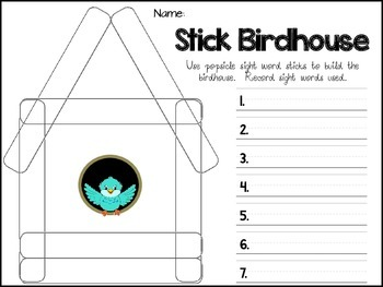 Sight Word Stick Activities for Kindergarten - Popsicle Stick Literacy Centers