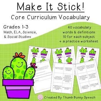 Stick Together Bundle - Social Skills, Core Curriculum Vocabulary & Articulation