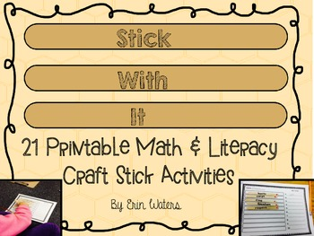 Stick With It: 21 Printable Craft Stick Activities [Math & Literacy]