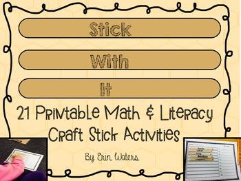 Stick With It: 21 Printable Craft Stick Activities [Math &