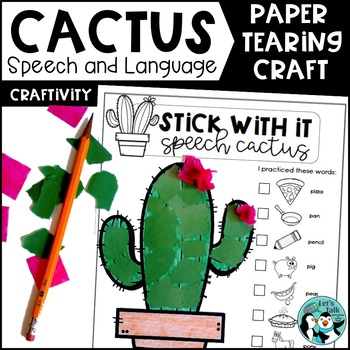 Stick With It: Cactus Craft for Speech & Language