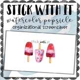 Stick With It Popsicle Watercolor Screensaver