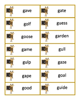 "Stick Your Neck Out! Activities for Reading Hard and Soft ""G"""