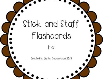 Stick and Staff Flashcards: Fa