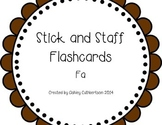 Stick and Staff Flashcards: Fa