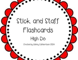 Stick and Staff Flashcards: High Do