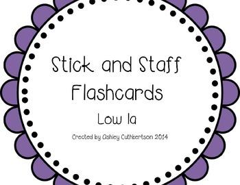 Stick and Staff Flashcards: Low la