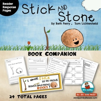 Stick and Stone   Book Companion   Reader Response Pages   Writing Prompts
