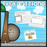 Stick and Stone Friendship and Anti-Bullying First Weeks of School Activities