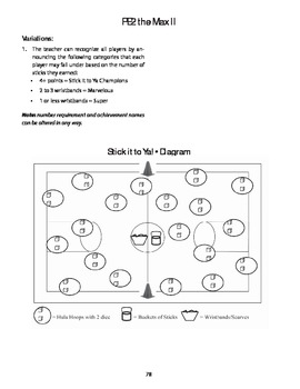 Stick It To Ya Game for PE and Math Intergration
