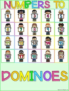 Stick n Learn - Numbers to Dominoes (Great for RTI, SPED)
