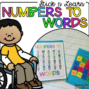 Stick n Learn - Numbers to Number Words (Great for RTI, SPED)
