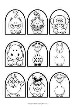 Stick puppet templates - Animals and People