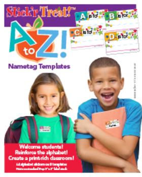 Stick'r Treat!™ A to Z Nametag Templates