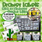 Stick to Kindness Cactus Drawer Labels