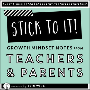 Stick to it Notes: Teacher Note Cards