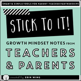 Stick To It: Growth Mindset Notes From Parents and Teachers