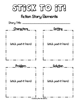 Stick to it! Post-it Sticky Note Organizers for Fiction and Non-fiction Text