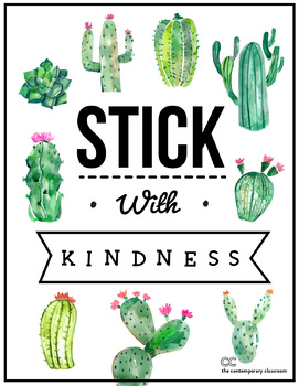 Stick with Kindness Bulletin Board Poster - Back to School Motivation