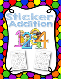 Sticker Addition Worksheets