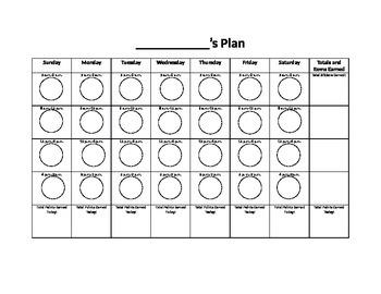 Sticker Behavior Plan