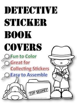 Sticker Book Covers - Detective Theme