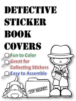 Sticker Book Covers - Detective Theme