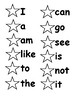 Sticker Book for 16 Kindergarten Sight Words