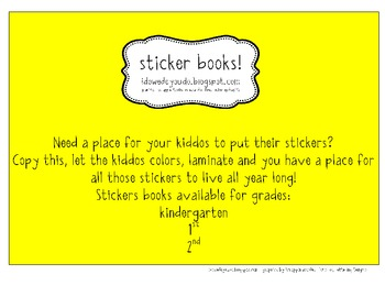 Sticker Books!