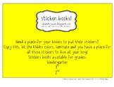 Sticker Books - 1st Grade