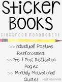 Sticker Books - Classroom Management & Positive Reinforcement