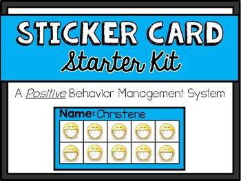 Sticker Card Starter Kit: Positive Behavior Management System