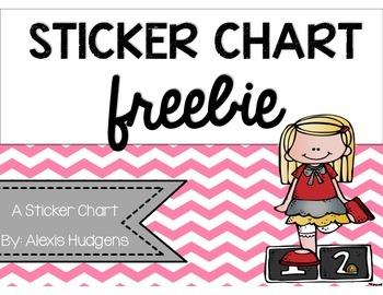 Sticker Chart Freebie
