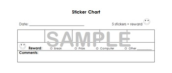 Sticker Chart - Incentive