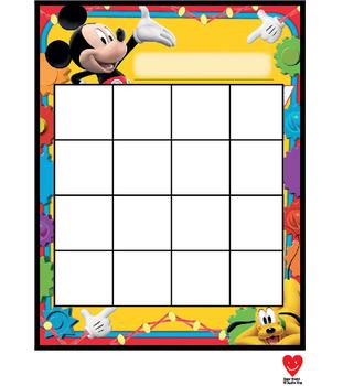 Reward Sticker Chart Mickey & Minions Inspired(Homework Chart, Attendance Chart)
