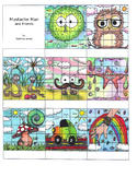 Sticker Chart - Mustache Man and Friends colored