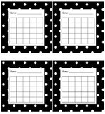 Sticker Chart Polka Dot Black