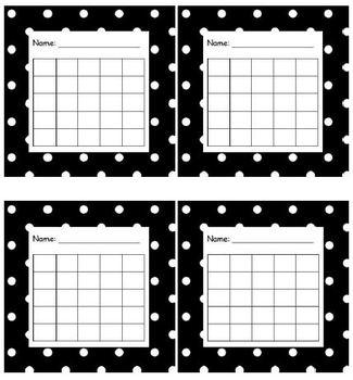 Sticker Chart Polka Dot Black