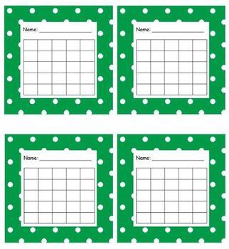 Sticker Chart Polka Dot Green
