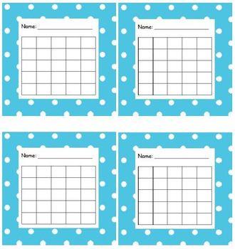 Sticker Chart Polka Dot Light Blue