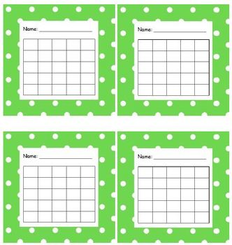 Sticker Chart Polka Dot Light Green