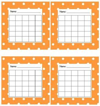 Sticker Chart Polka Dot Orange