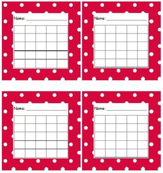 Sticker Chart Polka Dot Red