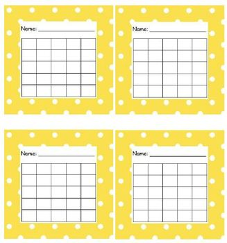 Sticker Chart Polka Dot Yellow
