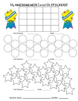Sticker Chart-Reproducible