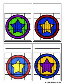 Sticker Chart Set: Super Hero Theme, 10 styles
